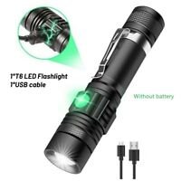 Super Bright 50000LM T6 LED Flashlight USB Zoom Torch 3 Modes Camping Lamp Night
