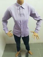Camicia RALPH LAUREN Donna Taglia Size 8 Slim Fit Shirt Chemise Maglia Polo 5008