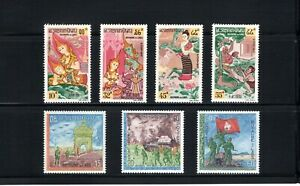 Laos -- 2 MNH complete commemorative sets from 1960s -- cv $9.45