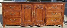 Vintage Hickory Manufacturing Co French Country Provincial Solid Oak Dresser
