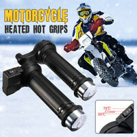 22mm 7/8'' Motorcycle Bike Hot Heated Grips Handle Handlebar Warmer Heater 12V