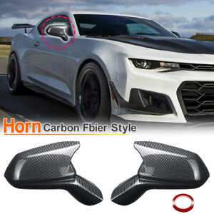 For Chevy Camaro SS RS ZL1 2016-2021 Carbon Fiber Style Side View Mirror Covers