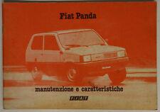 LIBRETTO USO E MANUTENZIONE FIAT PANDA ANNI 80 in ITALIANO #L552