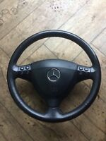 MERCEDES A CLASS W169 STEERING IN BLACK WITH MULTY FUNCTION BUTTONS A1694600503