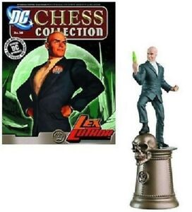 DC CHESS FIGURE LEX LUTHER in BOX + MAGAZINE #38 DC Comics EAGLEMOSS
