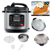 GoWISE USA Pressure Cooker 12 in 1 Programmable 6 Quart Electric Steel Instapot