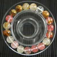 AAA+ 10mm Multi-Color Watermelon Tourmaline Gemstone Round Beads Bracelet 7.5""