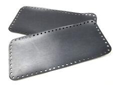2 fondi pre forati per borse in fettuccia a uncinetto colore grigio scuro
