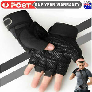 Best Weight Lifting Gloves Gym Bodybuilding Fitness Workout Training Wrist Strap