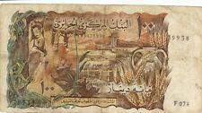 ALGERIA 100 Dinars 1970 Circ