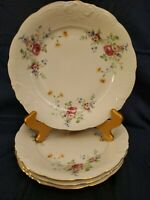 "Set Of 4 GORGEOUS VINTAGE RK ROYAL KENT POLAND DINNER PLATES ~ 10-1/2"" dia."