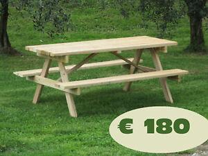 tavolo da giardino in legno 6 posti.