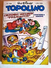 Topolino n.1708 * 21 ago 88 * con adesivi * Walt Disney - Mondadori