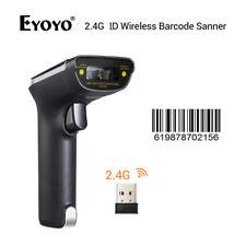 Eyoyo 1D 2.4G Wireless 2 in 1 Cordless Barcode Reader Gun 25h for Supermarket