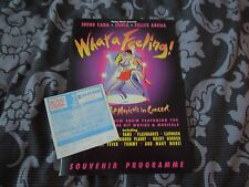 What A Feeling RARE Autographed Programme Sonia, Irene Cara, & Felice Arena