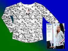 Women's Shirt Jumper Sweatshirt Sweatshirt Sweat M.Pockets S White Black