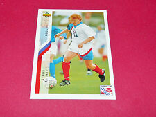 SERGEI KIRYAKOV RUSSIE FIFA WC FOOTBALL CARD UPPER USA 94 PANINI 1994 WM94
