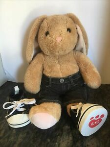 "Build A Bear Pawlette Brown Bunny Rabbit Stuffed Plush Animal 16""Shoes/Pants~WOW"