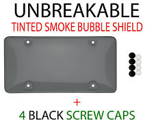 1 x Tinted Clear/Smoke Protector License Plate Frame Shield Cover Front & Rear