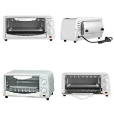 Compact 650 W 2-Slice White Toaster Oven With Bake Tray And Toast Rack