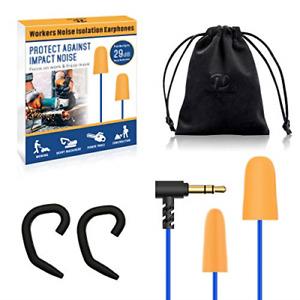 Hearprotek Foam Ear Plugs Headphones, Safety Work Ear Plug Earbuds Earphones for