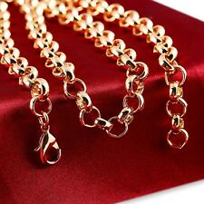 "9ct 9k ""Gold Filled"" Rolled Gold Men Girl Belcher chain necklace Length 20"" Gift"