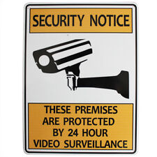 3x Warning Security Notice Sign Video Surveilla 24 Hour 225x300mm Metal Quality
