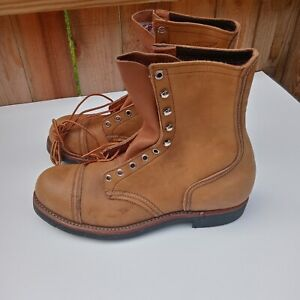 Vintage 60s-1970s Red Wing 915 Never Worn! Cord sole size 10 D Iron Ranger steel