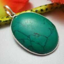 Turquoise Gemstone Pendant 925 Silver Plated U219-A80