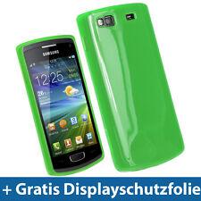 Grün TPU Tasche für Samsung Wave 3 S8600 GT-8600 Bada Gel Skin Schutz Hülle