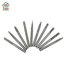 "10pcs 1/8"" Tungsten Carbide cutter Rotary Burr Set CNC Engraving Bit w/ CED 3mm"