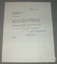 1945 Granby Quebec Baseball H.T. Cabana Signed Letter
