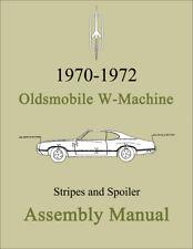 Olds W-Machine Stripes and Spoiler Assembly Manual 1970 1971 1972 W30 W31 W32