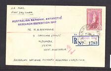 AAT 1947 AUSTRALIAN NATIONAL ANTARCTIC RESEARCH EXP REGISTED MAQUARIE ISL 5/