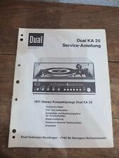 Dual KA 25 Service Manual TOP !!! Reinschauen !!!