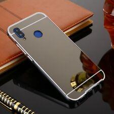 MIROIR / Pare-chocs en aluminium 2 pièces noir pour Huawei P20 étui housse coque