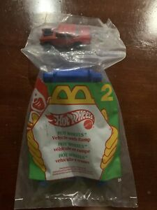 🚗 1995 Mcdonalds Happy Meal Toy Hot Wheels #2 Vehicle with Ramp MIP