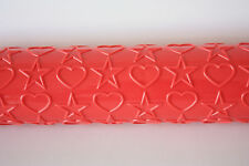 Heart & Star Embossing Roller Sugarcraft, Cake Decorating, Baking, Pin