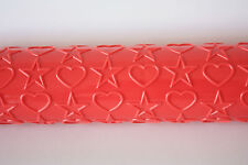 Heart & Star Embossing Roller Sugarcraft, Cake Decorating, Baking, Pin