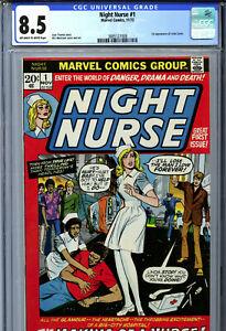 Night Nurse #1 (1972) Marvel CGC 8.5 OW/W 1st Appearance of Linda Carter!
