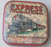 Antique Railway tin Collectibles Express typewriter Ribbon MED0WS STREET BOMBAY