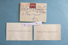 2 CDV 1932 Comte & comtesse DE RAOUSSET SOUMABRE > famille de MORAND à Lyon