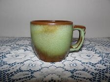 "Frankoma 5C Prairie Green Pottery Coffee Cup 3"" HIGH"
