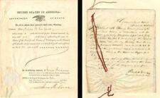 James Buchanan signed document
