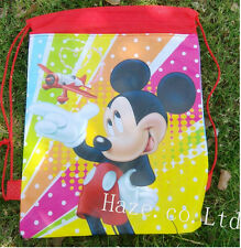 Cartoon Diseny Mickey Non-Woven Drawstring Bag Cute Backpack 4 Colors Best Gift