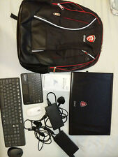 "MSI GE72VR 7RF Apache Pro, 17.3"". Serviced for auction. Many accessories."