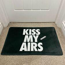 KISS MY AIRS BLACK WHITE SNEAKER DOOR MAT