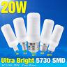 20W E27/B22/G9 Bright 5730 SMD Efficient LED Corn Bulb Lamp Milky White 110/220V