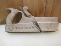 Antique Primitive S.G. Barnum Woodworker Wood Molding Plane  B2111