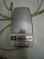 3M Wollensak T-1500 Tape Recorder Microphone B-162-4  Reel to Reel Works Tested